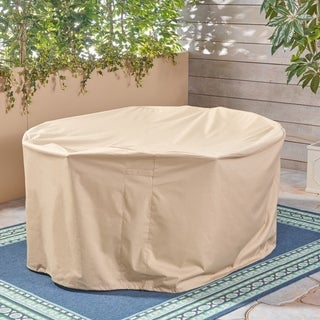 "Shield Outdoor 75"" Round Waterproof Dining Set Cover by Christopher Knight Home - N/A"
