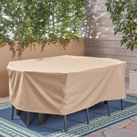 "Shield Outdoor 73"" by 57"" Rectangular Waterproof Dining Set Cover by Christopher Knight Home"