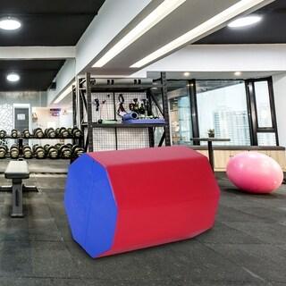 "25"" x 30"" Octagon Mat Skill Shape Gymnastics Tumbling Somersault Backbend Kids Play Exercise Trainer Aerobics, Red&Blue"