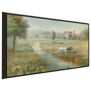 """""""Tranquil Farm"""" Print on Canvas in Floating Frame"""
