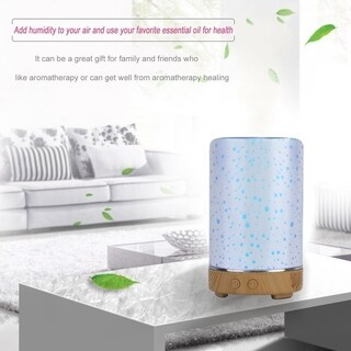 Cylindrical Essential Oil Diffuser 3D Ultrasonic Humidifier