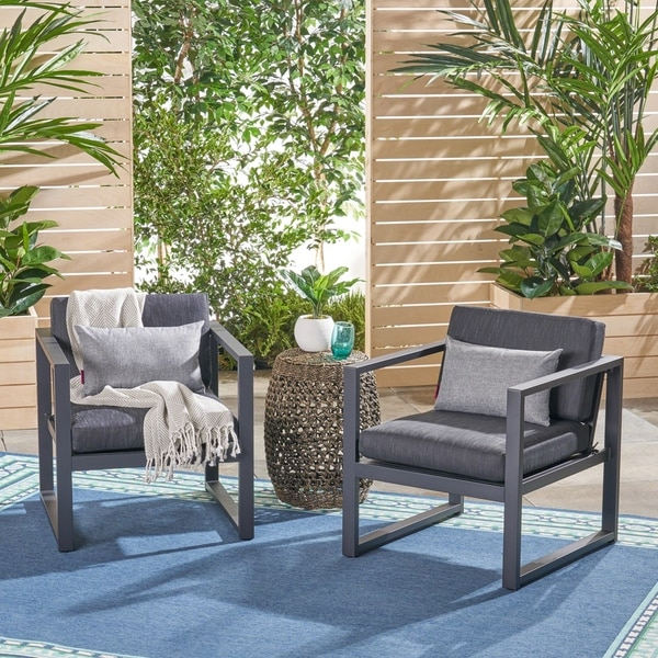 Shop Navan Outdoor Aluminum Club Chairs Set Of 2 By Christopher