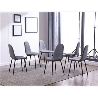 IDS Online 6-piece Grey Fabric One-size Dining Chair Set