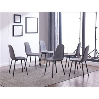 IDS Online 6 Pieces Dining Chair Set, One Size, Gray