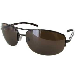 Timberland Mens TB7113 Rimless Fashion Sunglasses, Bronze/Brown