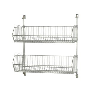 "Quantum Storage Systems 34""H Wire Cantilever Basket Wall Mount - Chrome"