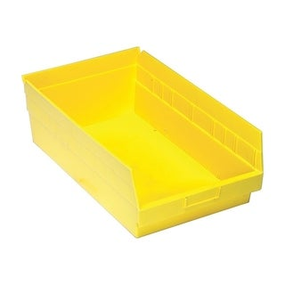 "Quantum Storage Systems Yellow Store More 6"" Shelf Bin - 17 7/8"" x 11 1/8"" x 6"" - 8 Pack"