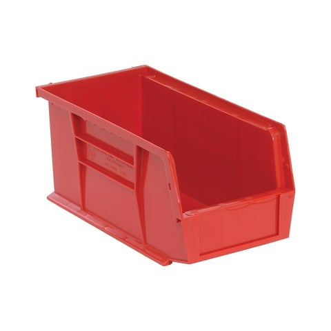 """Quantum Red Ultra Stack and Hang Bin 10-7/8""""Lx 5-1/2""""Wx 5""""H - 12 Pack"""