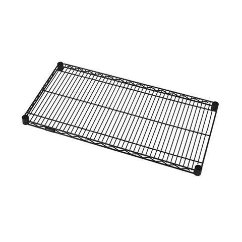 "Quantum Powder Coated Black Steel Wire Shelf 12"" X 48"""
