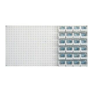"""Quantum Q-Peg Clear View Bin Kits 5-3/8""""L x 4-1/8""""W x 3""""H - 24 Pack"""
