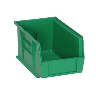 "Quantum Green Ultra Stack and Hang Bin - 9-1/4""Lx 6""Wx 5""H - 12 Pack"