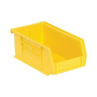 "Quantum Yellow Ultra Stack and Hang Bin 7-3/8""Lx 4-1/8""Wx 3""H - 24 Pack"