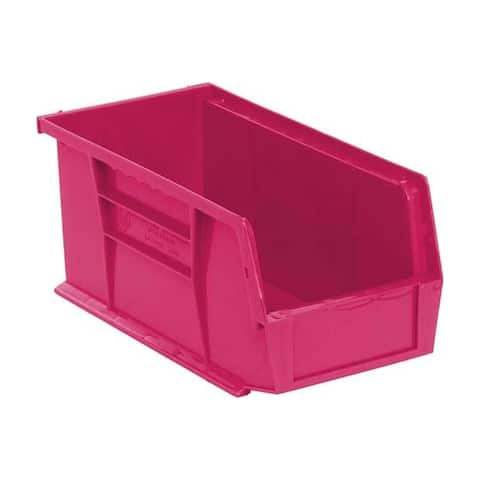 """Quantum Pink Ultra Stack and Hang Bin - 10-7/8"""" X 5-1/2"""" X 5"""" 12 Pack"""