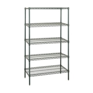 "Quantum Storage Systems Wire Shelving 5 Shelf Starter Unit 12"" x 48"" x 54"" - Proform"