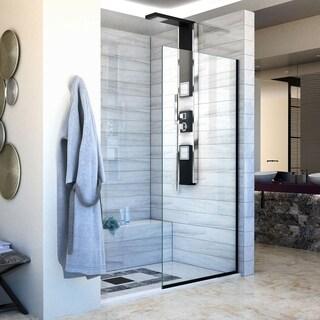 DreamLine Linea Single Panel Frameless Shower Screen 34 in. W x 72 in. H, Open Entry Design