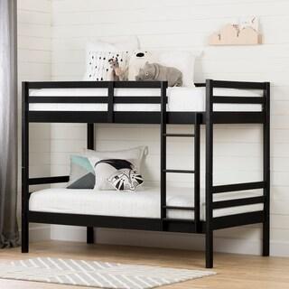 South Shore Fakto Black Matte Solid Wood Bunk Bed