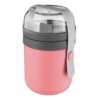 Leo Dual Lunch Pot, Pink & Gray