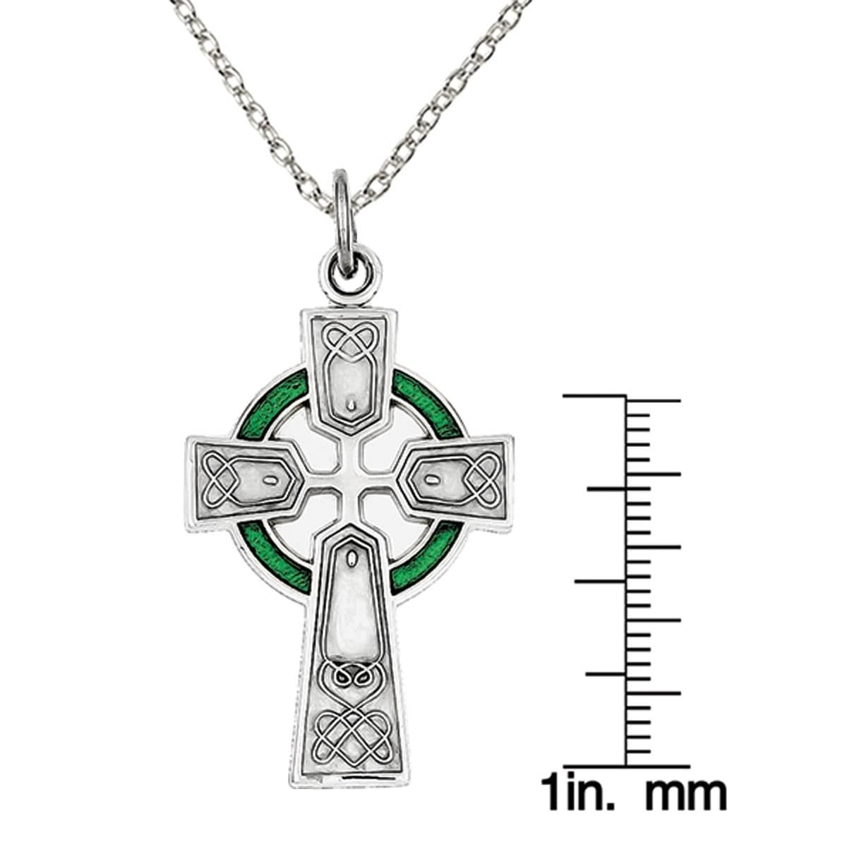 Jewels Obsession Silver Celtic Cross Pendant 14K Yellow Gold-plated 925 Silver Celtic Cross Pendant