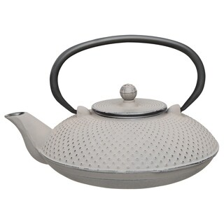 Studio Cast Iron Teapot, Gray, 0.74qt