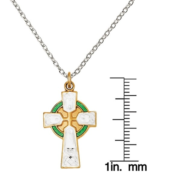 Jewels Obsession Silver Cross Necklace Rhodium-plated 925 Silver Passion Cross Pendant with 18 Necklace