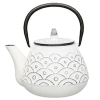 Studio Cast Iron Teapot - White - 1qt