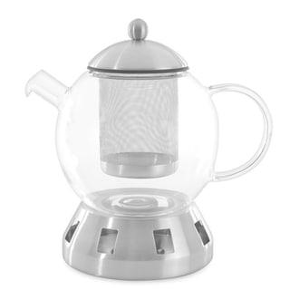 Essentials Dorado Glass 4pc Tea Pot, 5.5 cups