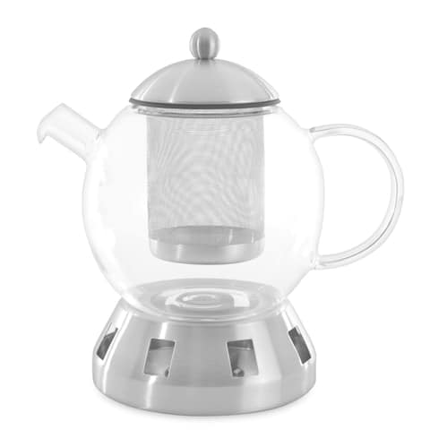 Essentials Dorado Glass 4pc Tea Pot, 5.5 cups