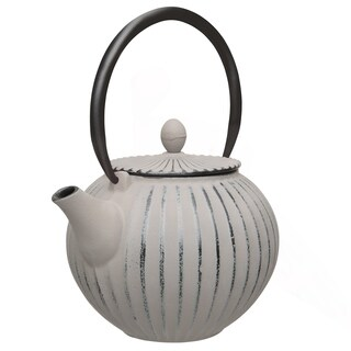 Studio Cast Iron Teapot, Gray, 1.06qt