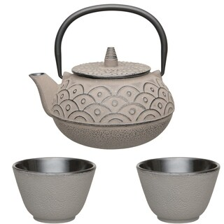 Studio Cast Iron 3pc Tea Set, Gray