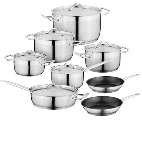Essentials Hotel 18/10 SS 14pc Cookware Set