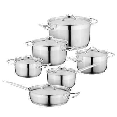Essentials Hotel 18/10 SS 12pc Cookware Set