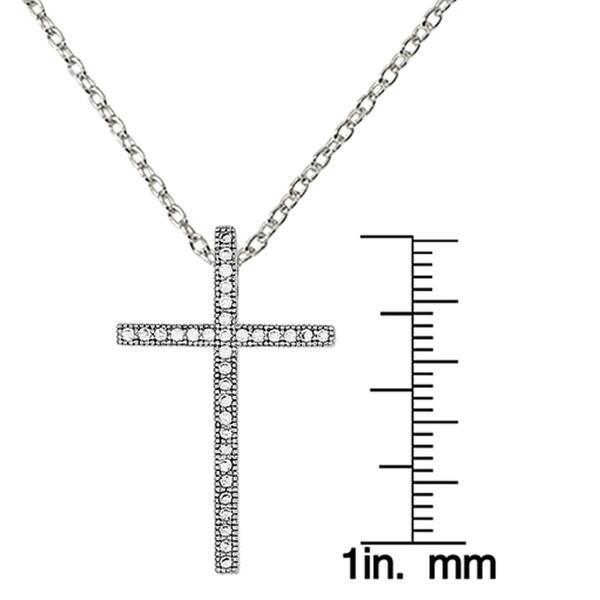 Sterling Silver Micro Pav Cross Pendant