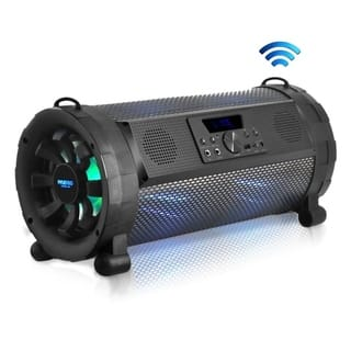 Pyle PBMSPG190 300W Wireless & Portable Street Blaster Bluetooth Boom Box Speaker Stereo System with Built-in LED Lights