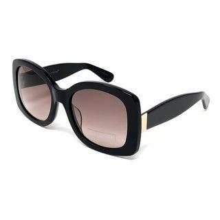 Kathy Ireland Women's Oversized Acetate Black Square Sunglasses
