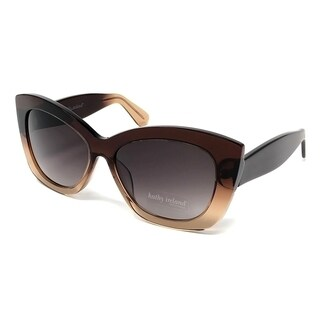 Kathy Ireland Women's Acetate Dark to Light Brown Cateye Sunglasses