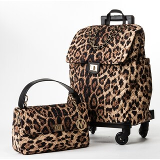 MKF Collection Norva 2 Pc Set Roller Luggage & Handbag by Mia K Farrow