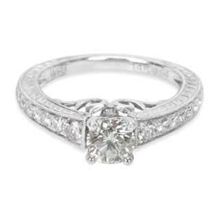 Diamond Engagement Ring in 14KT White Gold (0.95 CTW)