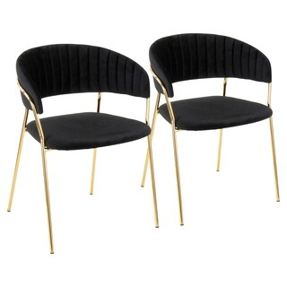 Tania Contemporary-Glam Chair (Set of 2)