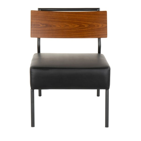 Copper Grove Ahrensburg Faux Leather and Walnut Wood Accent Chair