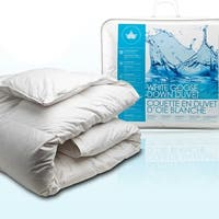 Canadian Down & Feather White Goose Down Comforter (All Season Weight)