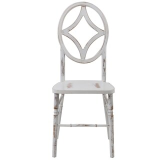 Veronique Diamond Lime/Whitewash Stackable Beechwood Dining Chair