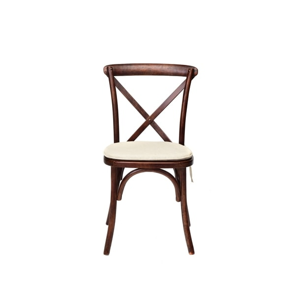 Shop Rustic Sonoma Cross Back Stackable Dining Chair With