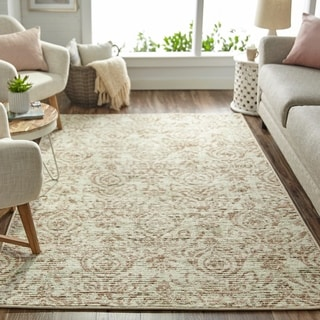 Mohawk Home Relic Valeriana Neutral Distressed Area Rug (5' x 8') - 5' x 8'