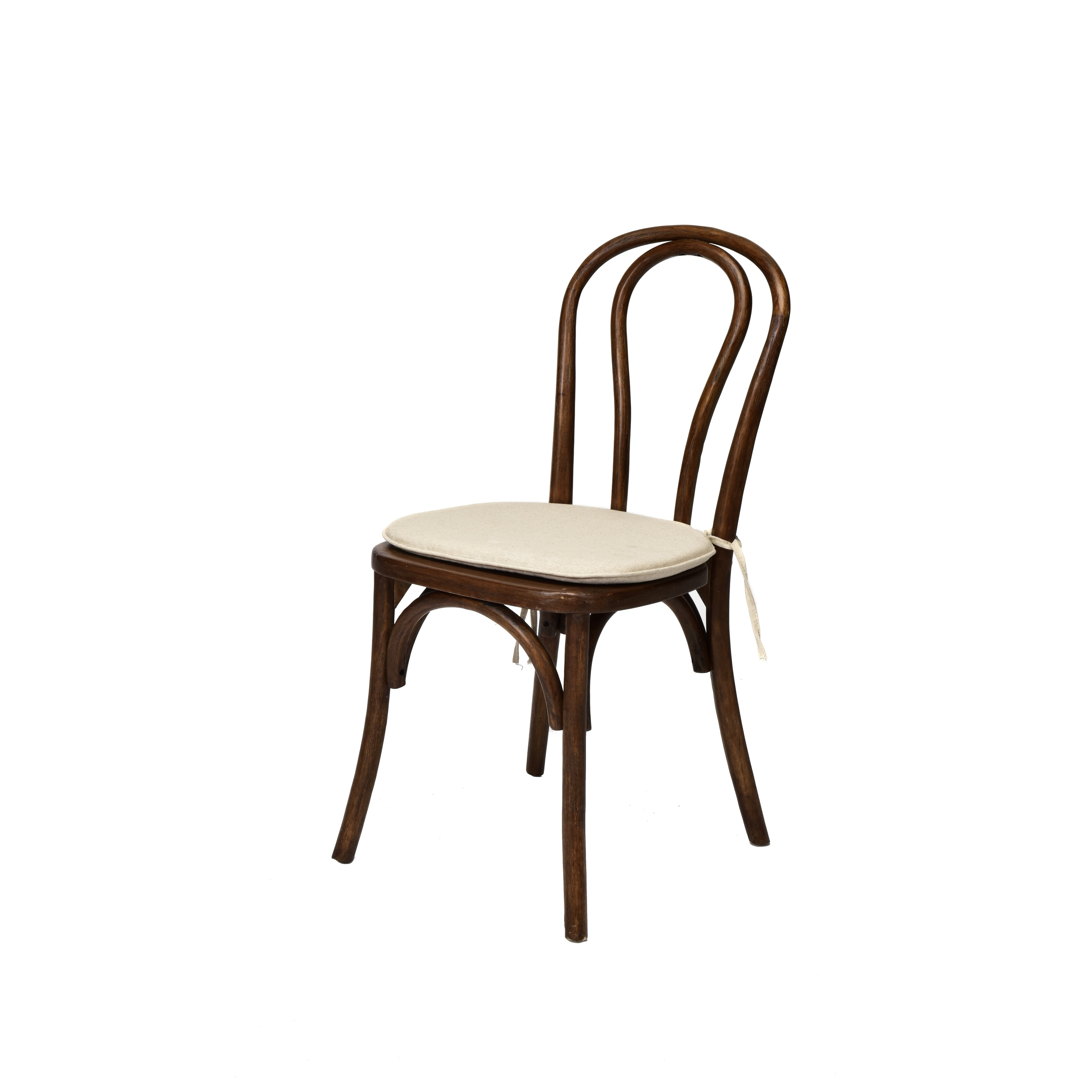 Rustic Stackable Bentwood Dining Chair W Cushion