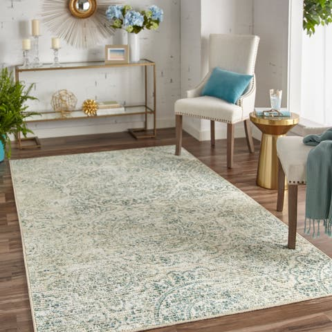 Mohawk Home Relic Morita Distressed Neutral Area Rug 7 6 X 10
