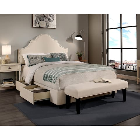 Republic Design House Steel-Core Portman Storage Bed with Bench