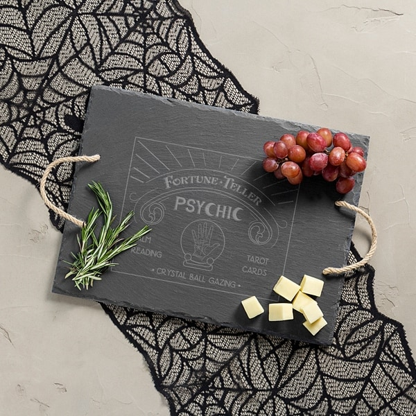 halloween fortune teller slate serving tray