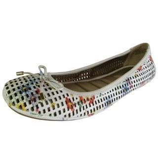 Me Too Womens Farrah Ballet Flat Shoes, Flower Print Leather