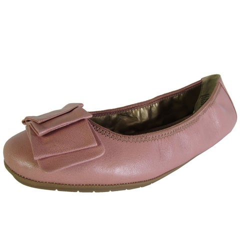 Me Too Womens Lilyana Leather Ballet Flat Shoes, Peony Glazed Goat