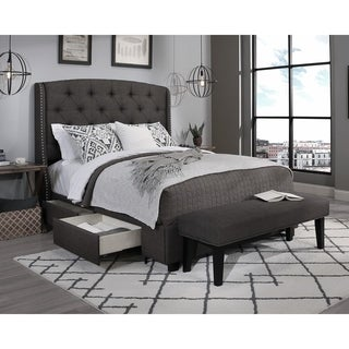 Republic Design House Steel-Core Peyton Storage Bed with Bench